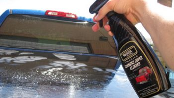 hard tonneau cover cleaning