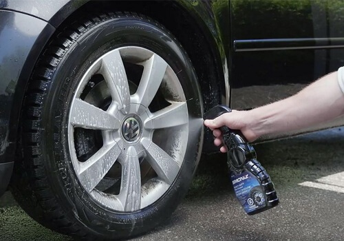how to clean car tires