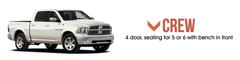 Types of Truck Cabs - Crew Cab