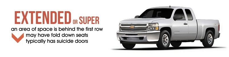 Types of Truck Cabs - Super Cab