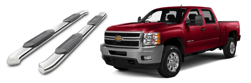 Chevy Silverado running boards installation