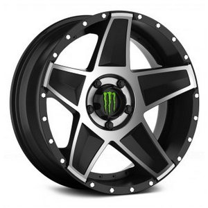 Monster Energy 648MB Gloss Black with Mirror Machined Face