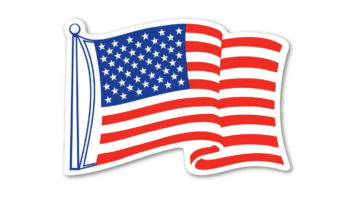 American Flag Waving Magnet