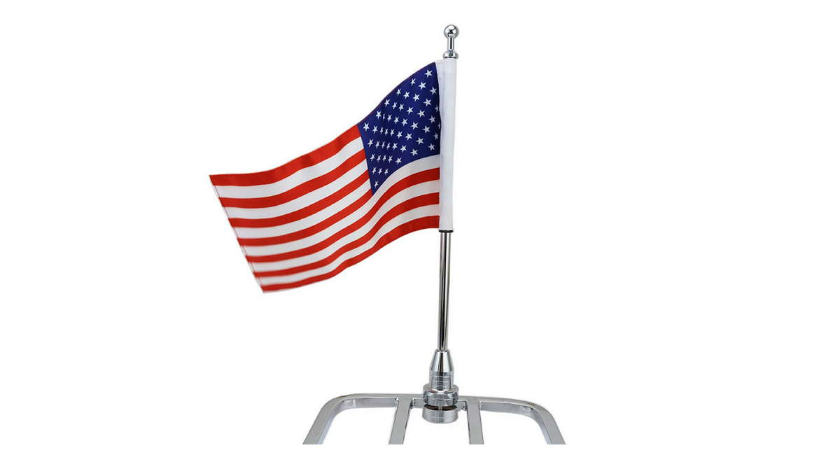 Fade-Resistant American Flag with Flag Pole Mount
